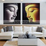 3d buddha face canvas oil painting for bedroom and hotel