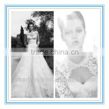 2014 New Style Deep Sweetheart Neckline Ball Gown with Long Sleeve Jacket Spanish Style Wedding Dresses (WDID-1004)