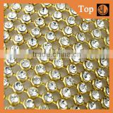 Wholesale aluminium rhinestone mesh sheet for garment