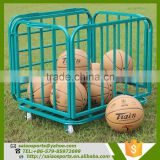 basketball training equipment Foldable basketball trolley , steel ball cart , folding trolley