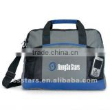 Gray/Royal Blue Portfolio & Conference & Messenger Bag with Polyester