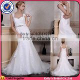 Appliqued lace & 2015 new arrival trumpet with belt western wedding bridesmaid dresses