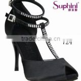 T-strap high heel Rhinestone/Crystal & Elite ladies latin salsa tango dance Shoes by Suphini