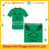 custom logo printing badminton sport jerseys for team