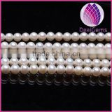 High quality AAA1 Grade natural 8.0-9.0mm white round freshwater pearl