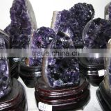 Nature fantastic dark amethyst crystal cluster