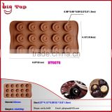 BT0075 15 Holes Mini Round Shape Chocolate Mold Round Shape Silicone Bakeware Ice Cube Trays Silicone Chocolate Mold