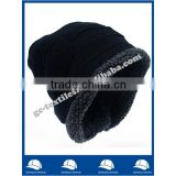 new product for 2015 china manufacturer OEM CUSTOM LOGO winter acrylic men warm beanie hat and cap