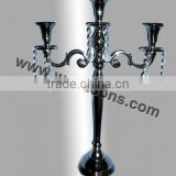 Black Candelabra Wedding Centerpiece Standing On The Floor And Black Candelabra With Black Bowl