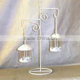 white hanging Lantern with stand