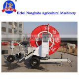Mobile hose reel irrigation system, sprinkler irrigation system