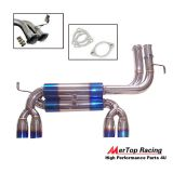 Mertop Titanium STAINLESS STEEL DUAL BACK EXHAUST SYSTEM 2.75