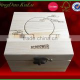 factory price top quality carved unfinished wooden storage box with lock,,carved wood box for sale