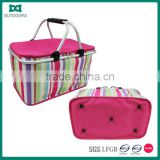 Fabric handle mini foldable shopping basket