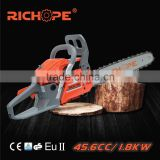 China top brand 16 inch professional 4600 chain saw with walbro carburetor gasoline engine