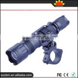 Wholesale T6 LED 1000Lm 3 Mode Strong Light Flashlight ,tactical Torch with flashlight mount