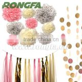 Supply Party Decoration Hanging Circle Dots Paper Garland