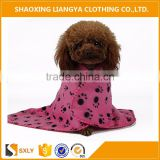 Soft fleece dog blanket and animal bathrobe