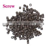 www.alibaba.com hair extension tool screw metal micro ring/micro beads for hair extension