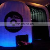 Top quality portable LED inflatable 3d photo booth For Wedding Party Used