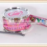 pink plastic mini musical drum set toy