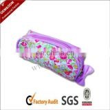 Shinny PVC zippered makeup bag pencil case with bow