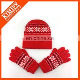 Custom snow flower red hat set
