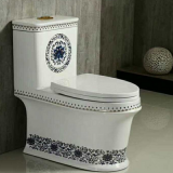 Blue color ceramic colored toilets from chaozhou china