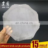 Factory sell direct pmma plexiglass acrylic frosted fruit tray