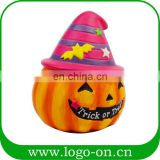 Popular halloween ceramic candlestick pumpkin shaped trick or treat candle holder