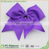 Extra Large Classic Elastic Ponytail Uniform Cheer Bow