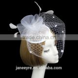 Wholeslae Alibaba Hair Clip Veiling Sinamay Base Fascinator Hat For Wedding Party