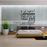 Parlor Decor Custom Transparent Wall Decal Wall Stickers Removable Wall Decals For Bedroom