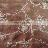 silk embroidery/silk embroidery fabric/embroidery silk fabric