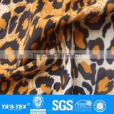 Leopard animal print breathable fabric for sportswear