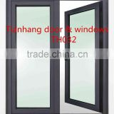Steel swing window with fireproof / fire rated glass