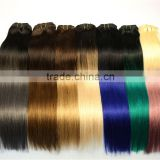 Dark roots human hair ombre brazilian hair weave pink gray and black ombre hair extensions