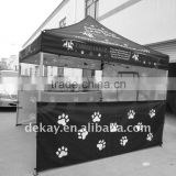 3x3 economic price outdoor hexagon aluminum frame folding tent gezabo in colourful logo printing