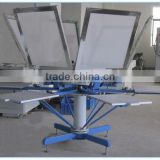 4 color Manual rotary t-shirt screen printing machine price                                                                         Quality Choice