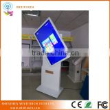 "42"" free standing advertising kiosk display multimedia information for shopping mall, hotel, museum"