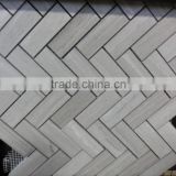 White wood vein mosaic tiles