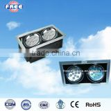 18W led grill strobe lamp shade accessory for led lighting,aluminum alloy,square,China supplier