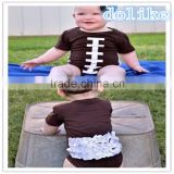 2016 wholesale football season football baby romper                                                                                                         Supplier's Choice