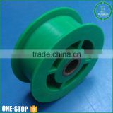 Custom dimension U V groove cable cheap injection nylon plastic pulley wheels follow your drawing