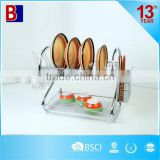 household item chrome plating 2 layer metal wire dish rack                                                                         Quality Choice