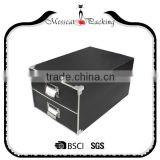 Factory Price Fast Delivery High Quality Classical Design Matte Black Magnetic Gift Box with Lid