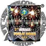 "2"" Mirage Display Shells 25 Shots/fireworks cake/wholesale fireworks/UN0336 1.4G consumer fireworks/cheap fireworks"