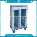 AG-CHT005 with rows abs patient record hospital file plastic medical trolley                                                                                                         Supplier's Choice