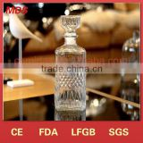 high quality crystal glass 700ml whisky glass bottle
