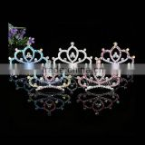 >>best selling shiny girls princess crown hair accessories Crystal Tiara/